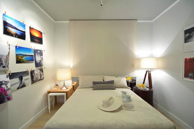 Residências Praianas: Quartos  por Michele Moncks Arquitetura