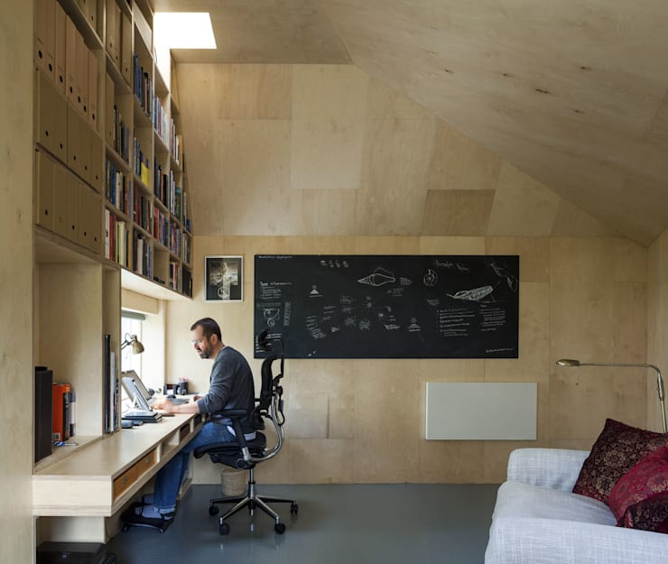Cut & Frame House:  Study/office by Ashton Porter architects
