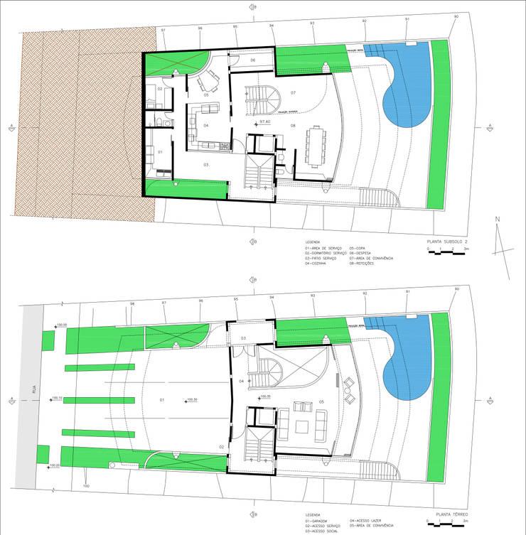 Residência Otávio Gimenes II: Casas  por Douglas Piccolo Arquitetura e Planejamento Visual LTDA.
