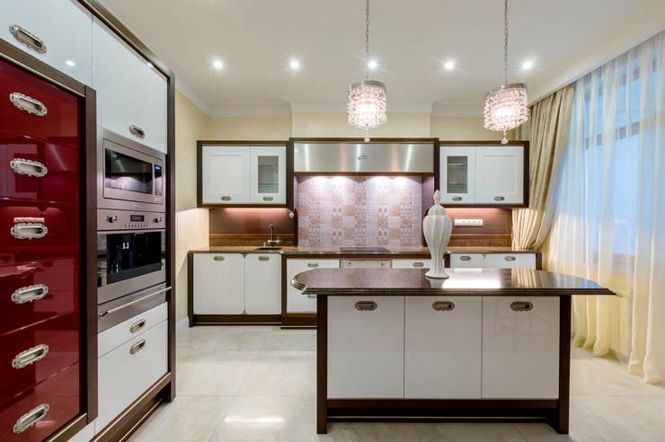 Квартира в Москве 166 кв. м.: Кухни в . Автор – MM-STUDIO
