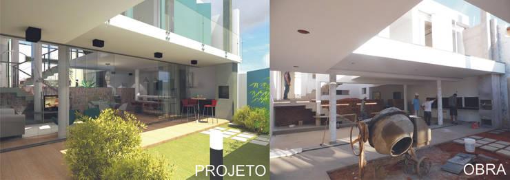 Casa Rua Romildo Morelli: Casas  por Sérgio Machado Arquitetura