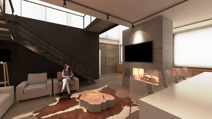 Casa Loft: Salas de estar  por K+S arquitetos associados