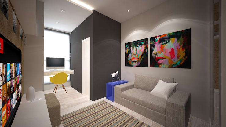 Casa Loft: Quarto  por K+S arquitetos associados