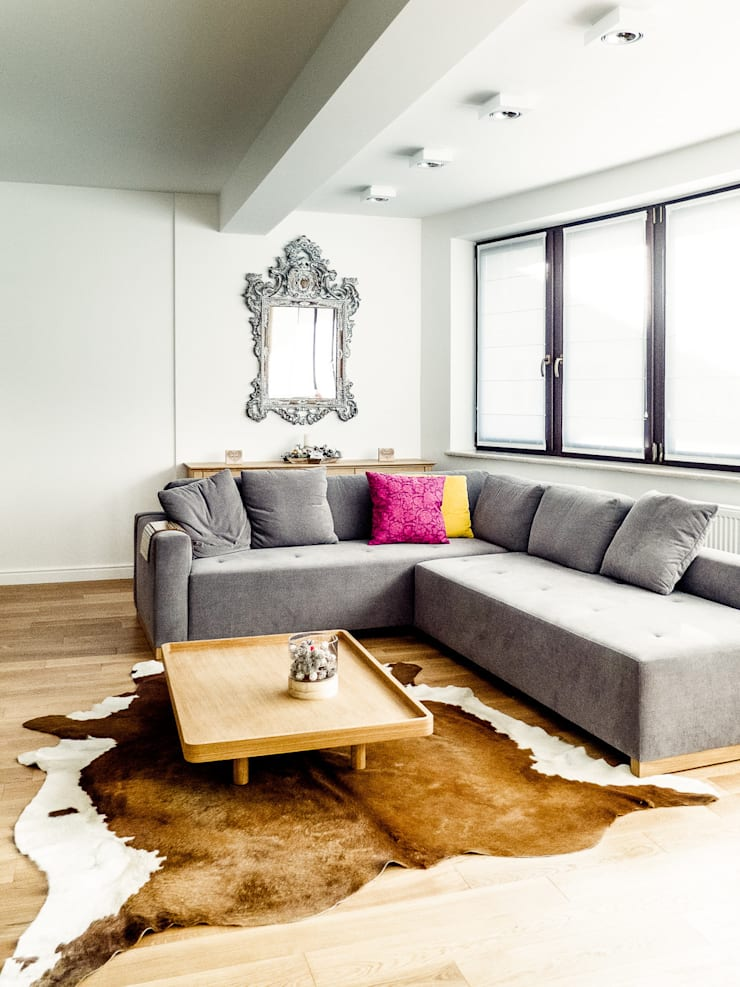 Apartament w Zakopanem - salon: styl , w kategorii Salon zaprojektowany przez Jacek Tryc-wnętrza