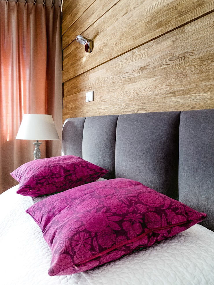 Apartament w Zakopanem - sypialnia: styl , w kategorii Ściany zaprojektowany przez Jacek Tryc-wnętrza