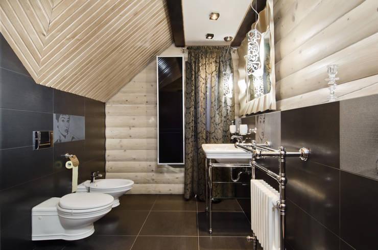 Сруб –  Рубим по-новому : Ванные комнаты в . Автор – Samarina projects