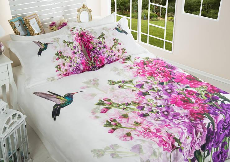 Home Sweet Home – Shabby Nevresim Takimi: tropikal tarz tarz Yatak Odası