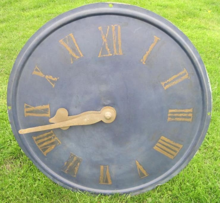 Antique Victorian Copper Clock Face with Hands:  Living room by UK Architectural Antiques