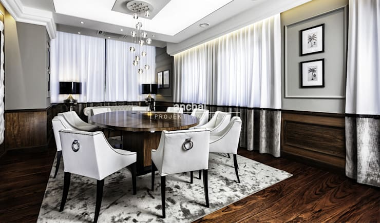 sala konferencyjna: styl , w kategorii Przestrzenie biurowe i magazynowe zaprojektowany przez Anchal Anna Kuk-Dutka