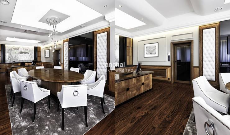 gabinet Prezesa: styl , w kategorii Biurowce zaprojektowany przez Anchal Anna Kuk-Dutka