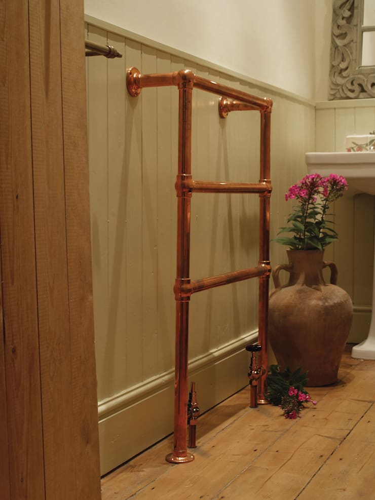 Beckingham Copper Towel Rail :  Bathroom by UK Architectural Antiques