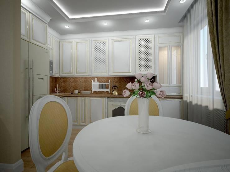 Дизайн кухни-гостиной: Гостиная в . Автор – Дизайн студия интерьера 'Relief', Классический