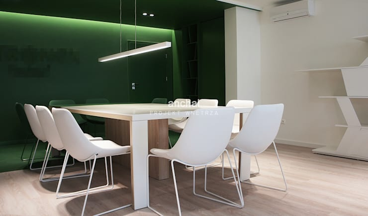 sala konferencyjna: styl , w kategorii Przestrzenie biurowe i magazynowe zaprojektowany przez Anchal Anna Kuk-Dutka,Minimalistyczny