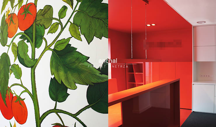 pomarańczowy sekretariat: styl , w kategorii Biurowce zaprojektowany przez Anchal Anna Kuk-Dutka,Nowoczesny