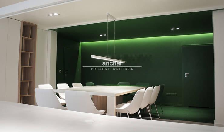sala konferencyjna: styl , w kategorii Biurowce zaprojektowany przez Anchal Anna Kuk-Dutka,Nowoczesny