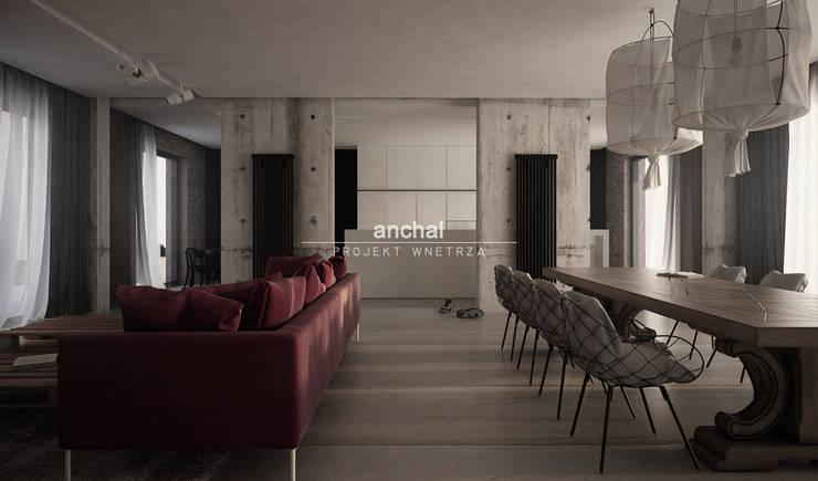 kuchnia z salonem: styl , w kategorii  zaprojektowany przez Anchal Anna Kuk-Dutka