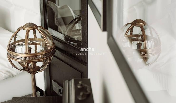 Detal: styl , w kategorii Sypialnia zaprojektowany przez Anchal Anna Kuk-Dutka