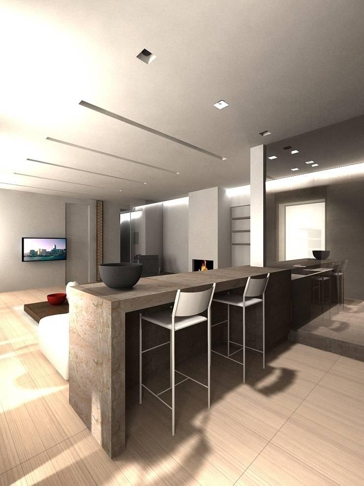 Кухня с видом на гостиную: Кухни в . Автор – (DZ)M