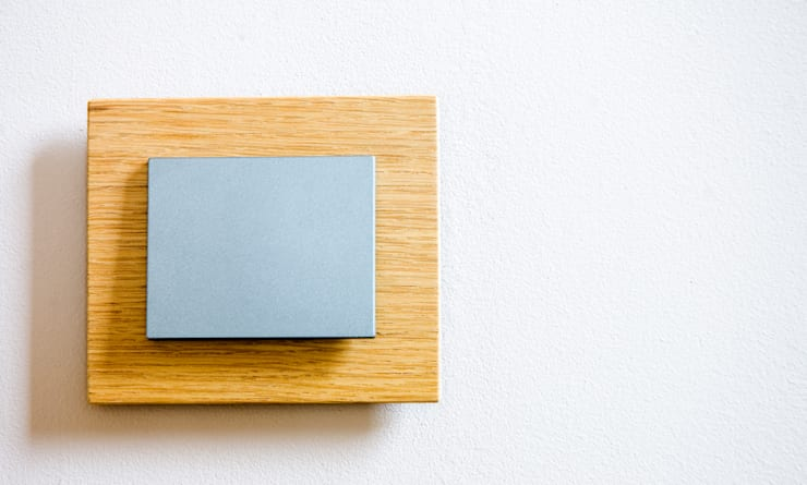 drewniane włączniki OBZOR: styl , w kategorii Salon zaprojektowany przez ISD POLAND