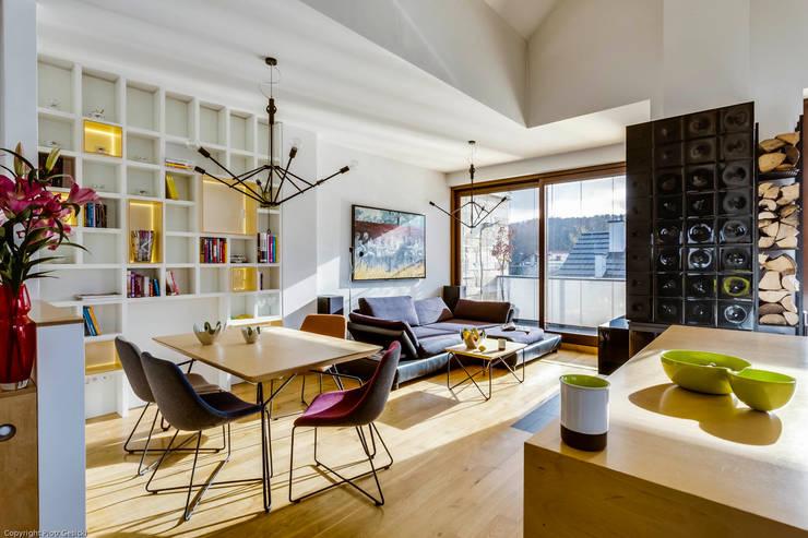 minimalistic Living room by Biuro Projektowe Pióro