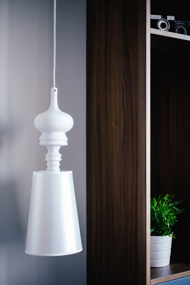 Gdańsk, ul.Szafarnia: styl , w kategorii Salon zaprojektowany przez Raca Architekci