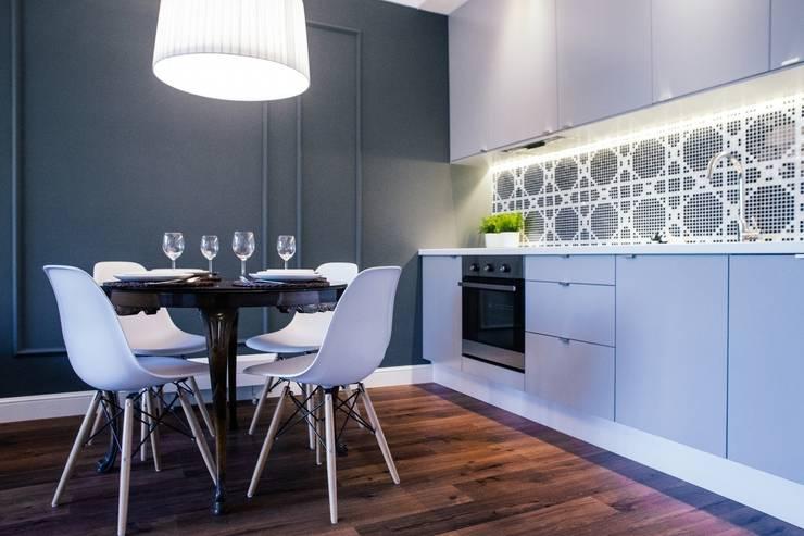 Gdańsk, ul.Szafarnia: styl , w kategorii Kuchnia zaprojektowany przez Raca Architekci