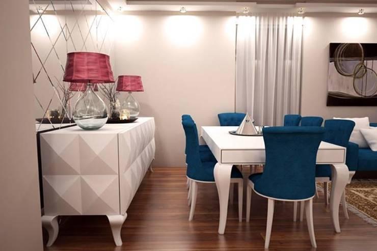 Sonmez Mobilya Avantgarde Boutique Modoko – Piramit Yemek Takımı:  tarz Yemek Odası