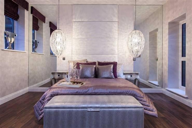 Bespoke headboards :  Bedroom by Chandler Upholstery