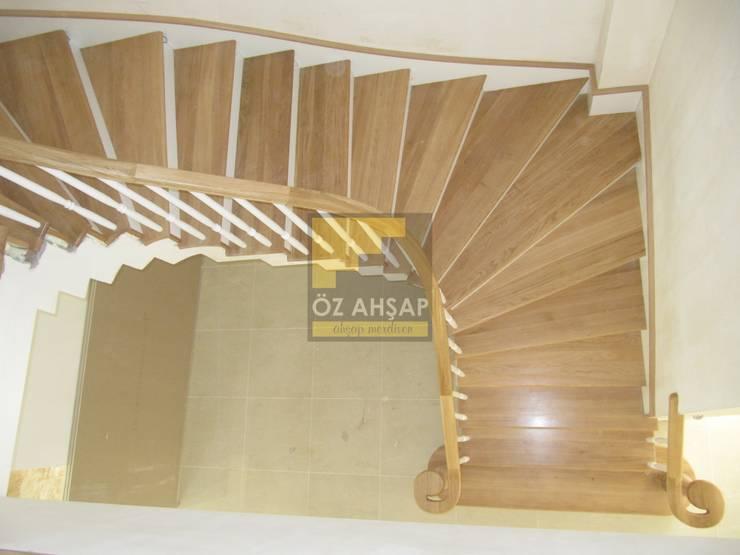 ÖZ AHŞAP MERDİVEN – Dubleks merdiven ve küpeşte resimleri:  tarz