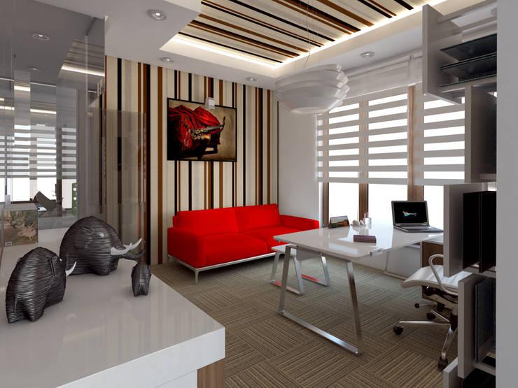 İNDEKSA Mimarlık İç Mimarlık İnşaat Taahüt Ltd.Şti. – HUKUK OFİSİ & LAW OFFİCE : modern tarz Duvar & Zemin