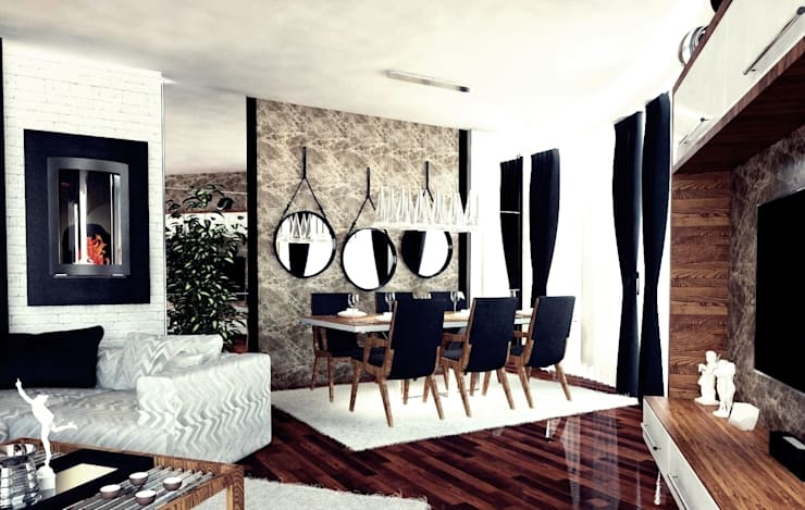 Dining room by GN İÇ MİMARLIK OFİSİ