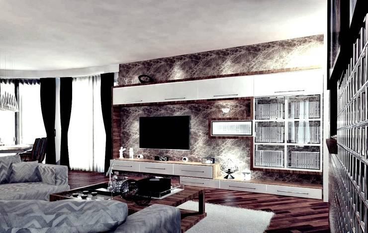 Salon de style  par GN İÇ MİMARLIK OFİSİ, Moderne