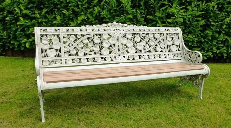 Coalbrookdale Nasturtium Pattern Garden Bench:  Garden  by UK Architectural Antiques