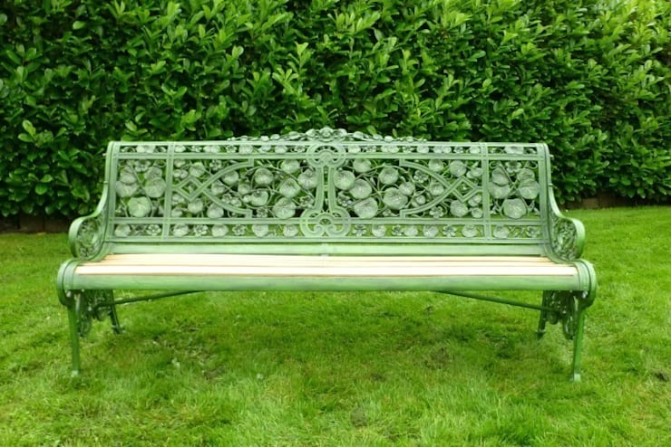 Coalbrookdale Nasturtium Pattern Garden Bench can be Purchased from UKAA:  Garden  by UK Architectural Antiques