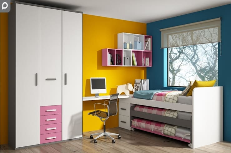 Dormitorio juvenil Tagetes: Dormitorios de estilo  de Mobihogar-2000