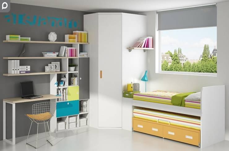 Dormitorio juvenil Azalea: Habitaciones infantiles de estilo  de Mobihogar-2000