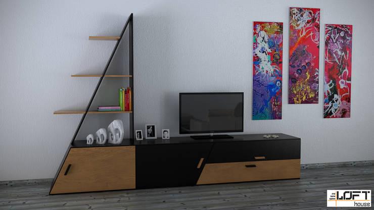Loft House Tasarım Ofisi – 3D Projeler:  tarz