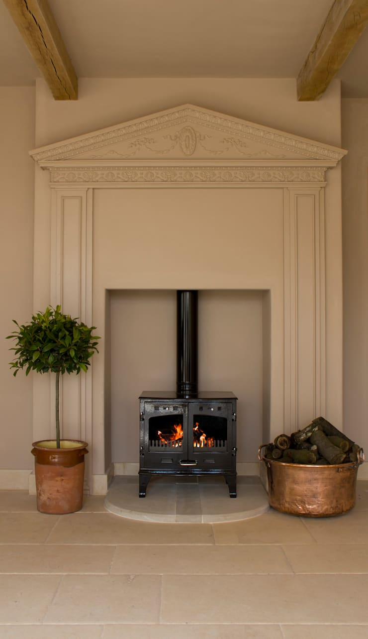 Carron Enameled 11kw Stoves are available from UKAA :  Living room by UK Architectural Antiques
