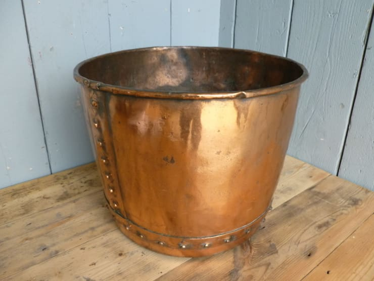 Victorian Antique Copper Pot :  Living room by UK Architectural Antiques