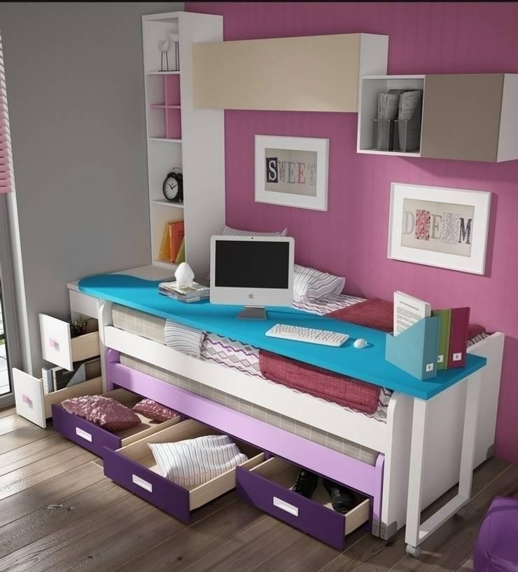 Dormitorio juvenil Sicilia (Detalle-2): Habitaciones infantiles de estilo  de Mobihogar-2000