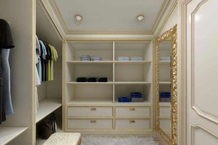 Дизайн гардеробной: Гардеробные в . Автор – Цунёв_Дизайн. Студия интерьерных решений., Классический