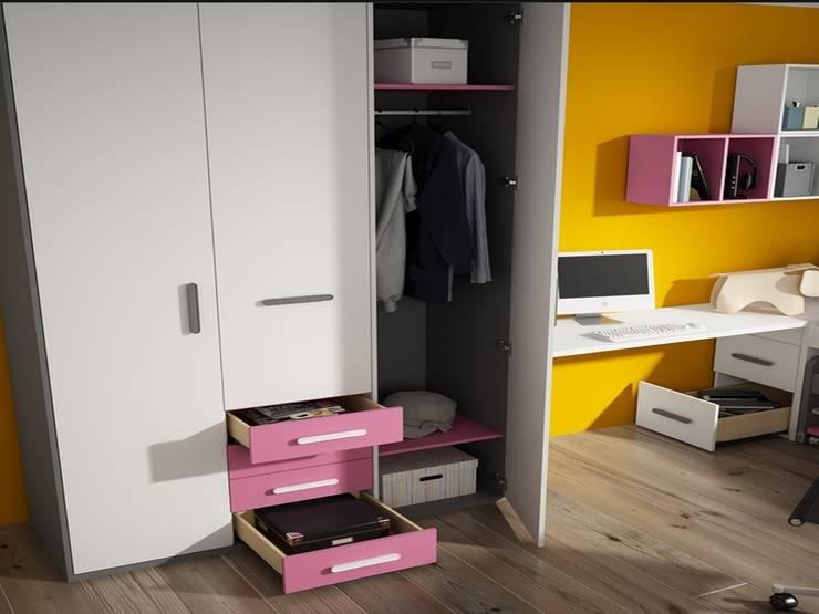 Dormitorio juvenil Tagetes (Detalle-2): Habitaciones infantiles de estilo  de Mobihogar-2000