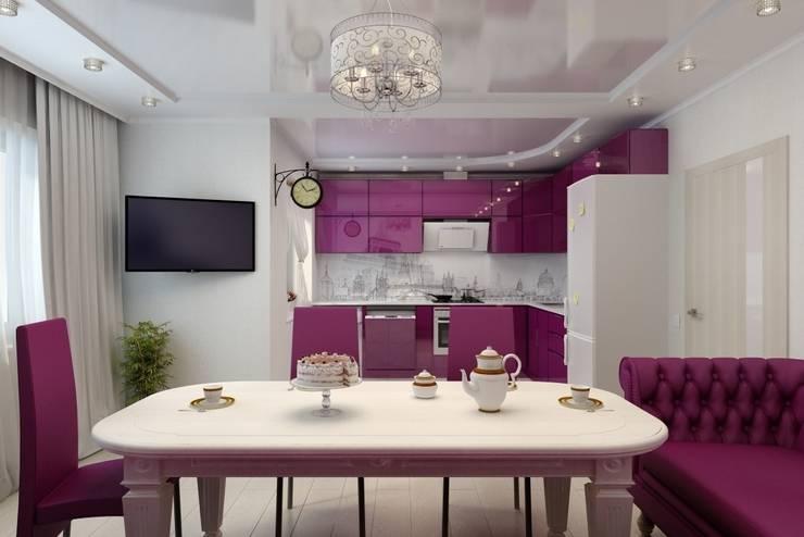 Дизайн кухни-гостиной. г. Буденовск: Кухни в . Автор – Дизайн студия 'Exmod' Павел Цунев