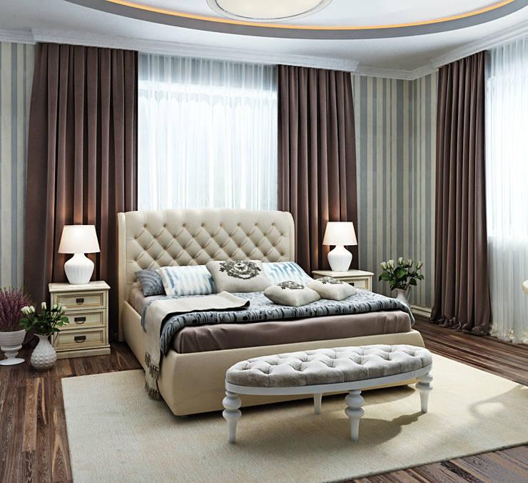 Неоклассика для спальни: Спальни в . Автор – Студия дизайна Interior Design IDEAS