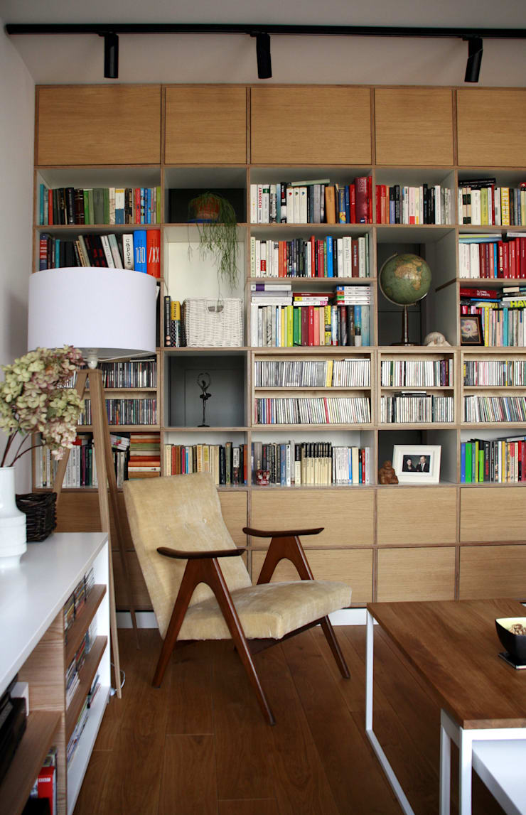 nad kanałkiem: styl , w kategorii Salon zaprojektowany przez JJJASKOLA ARCHITEKCI