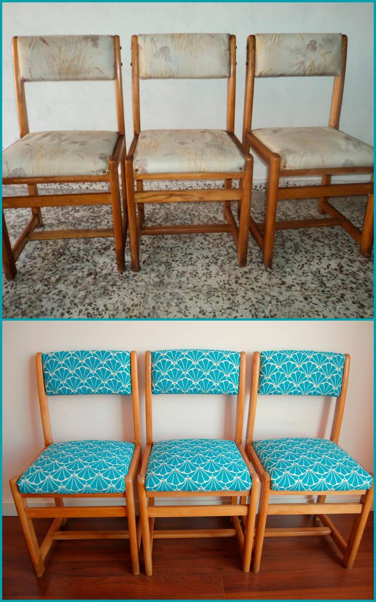 3 sillas recuperadas ex-graffiti:  de estilo  de Amarquimia
