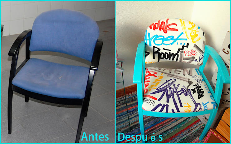 Silloncito recuperado Graffiti:  de estilo  de Amarquimia