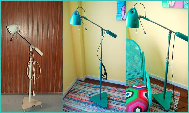 Lámpara clínica de los años 60 transformada:  de estilo  de Amarquimia
