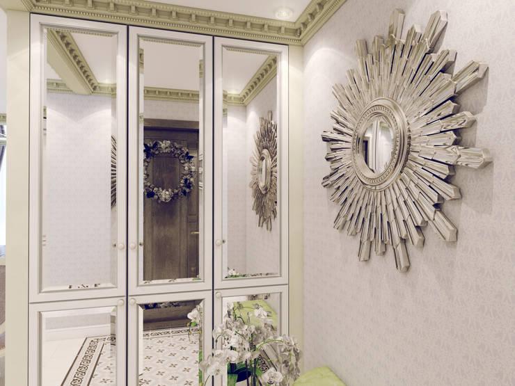 Атмосфера весны в однокомнатной квартире: Коридор и прихожая в . Автор – Volkovs studio