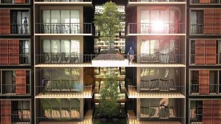 ON TASARIM LTD. ŞTi. – Balkonlar ve aralar:  tarz